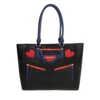 Love MoschinoHandle Bag - Tote Hearts Calf PU Nero - in black - Handle Bag for ladies