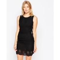 LoveLaser Cut Dress with Tie Up Sides - Black