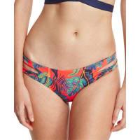 L*SpaceLiberty Palm Estella Reversible Cutout-Side Swim Bottom, Persimmon