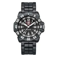 Luminox44mm Navy SEAL 3050 Series Colormark Watch, Black/White