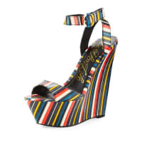 Lust For LifeAmp Striped Wedge Sandal, Multi Pattern