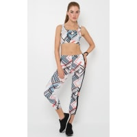 M ActiveChantel Medium Support Crop (Print) by M ACTIVE*