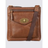 Marks and SpencerM&S Collection Leather Turn-Lock Messenger Bag