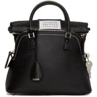 Maison Martin MargielaBlack Grained Leather Bag