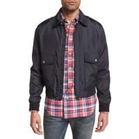 Maison Martin MargielaDouble-Pocket Zip Bomber Jacket, Dark Gray