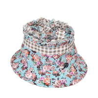 Maison MichelPleated Flower Gingham Erin Bucket Hat