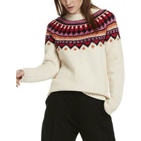 Maison ScotchDamen Pullover Soft Chunky Jacquard Knit with Pop Colours