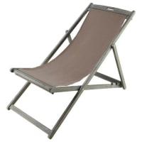 Maisons du mondeTumbona/silla de playa plegable de acacia agrisada L. 111 cm Panama