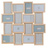 Maisons du mondeCornice fotografica a 16 immagini in legno 59 x 59 cm PORTO