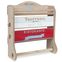 Maisons du mondeMensola porta-rotoli da parete in legno H 37 cm TRATTORIA
