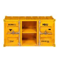 Maisons du mondeMueble de TV contenedor amarillo de metal An. 129 cm Carlingue