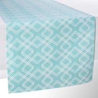 Maisons du mondeCamino de mesa de algodón azul L 150 cm VERA