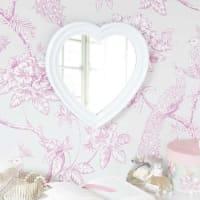 Maisons du mondeSpecchio bianco in plastica a forma di cuore A 30 cm LEONTINE