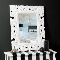 Maisons du mondeSpecchio Rivoli bianco 90x70
