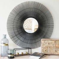Maisons du mondeSpecchio rotondo nero in metallo D 70 cm DAMARA