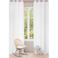 Maisons du mondeCortina con ojales de lino lavado blanco 130 x 300 cm