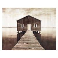 Maisons du mondeTestata da letto in listelli di legno 140 cm Seaside