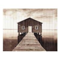 Maisons du mondeTestata da letto in listelli di legno 160 cm Seaside