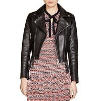 MajeBestyle Fringe-Trimmed Leather Jacket