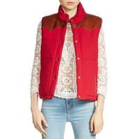 MajeGorky Reversible Leather-Paneled Vest