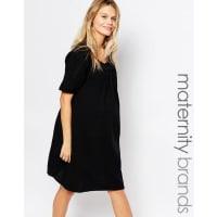 Mama LiciousMamalicious Lace Detail Smock Dress - Black