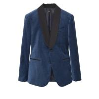 MangoVELVET Veste de costume blue