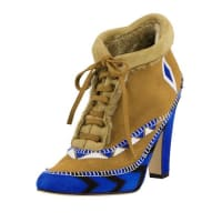 Manolo BlahnikEskima Suede Moccasin Ankle Boot, Francia Blue