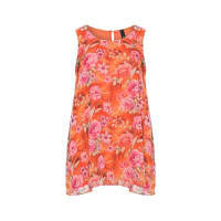Manon BaptistePlus Size Floral chiffon A-line top