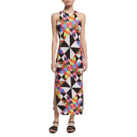 Mara HoffmanFractals Printed Midi Coverup Dress