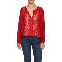 MarabelleGarment-Dyed Cotton Lace Blouse