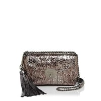 Marc JacobsBasic Tassel Metallic Embossed Leather Shoulder Bag
