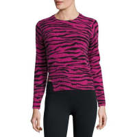 Marc JacobsCashmere Tiger-Print Crewneck Sweater, Pink/Multi