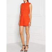 Marc JacobsIrving Crepe Buttoned Playsuit - Red, Size Us 4