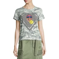 Marc JacobsJulie Mouth Camouflage-Print Tee, Gray/Multi