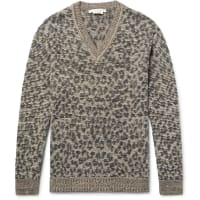 Marc JacobsLenny Leopard Jacquard-knit Linen, Wool And Cashmere-blend Sweater - Leopard print