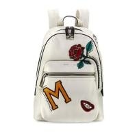 Marc JacobsMJ Collage Biker Leather Backpack, Dove/Multi