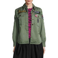 Marc JacobsParadise-Appliqué Military Jacket, Military Green