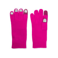 Marc JacobsWild Thing Foiled Merino Wool Gloves - Pink