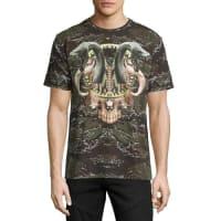 Marcelo BurlonCamo Snake Graphic T-Shirt, Green