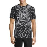 Marcelo BurlonGraphic Line Short-Sleeve Jersey T-Shirt, Black