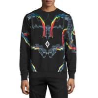 Marcelo BurlonMulti-Graphic Crewneck Sweatshirt, Black