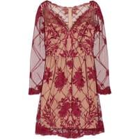 MarchesaEmbroidered Tulle Mini Dress - US12