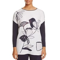 Marina RinaldiVespa Floral Print Drop Shoulder Tee