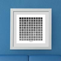 Mark GonyeaAllWhite Frame - 8x8