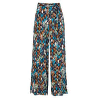 Market 33Calça pantalona abstract Market 33 - azul