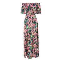 Market 33Vestido longo ombro a ombro floral - rosa