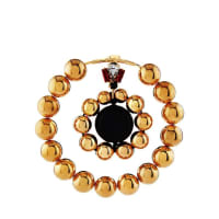 MarniMetallic Gold Ball Double-Hoop Earrings