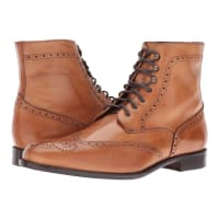Massimo Matteo7-Eye Wing Boot (Tan) Mens Shoes