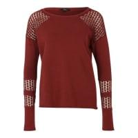 MaviSweatshirt mit Spitzeneinsätzen rot