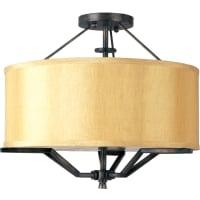 Maxim LightingMaxim Lighting Aurora EE Drum Shade Flush Mount Ceiling Light in Honey Auburn
